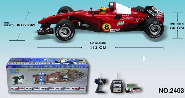 1:4 rc formula one car specs