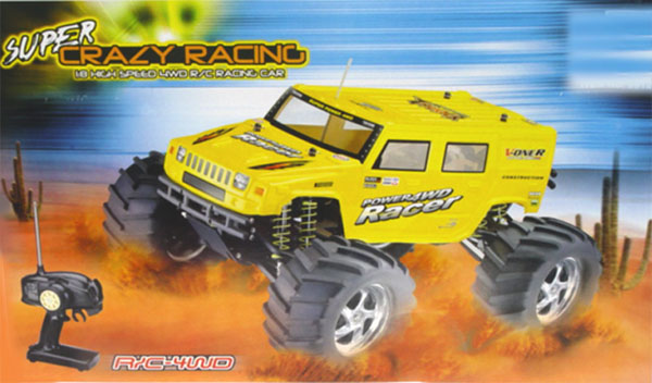 rc nitroHUMMER MONSTER box
