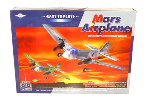 rc mars warbird airplane box