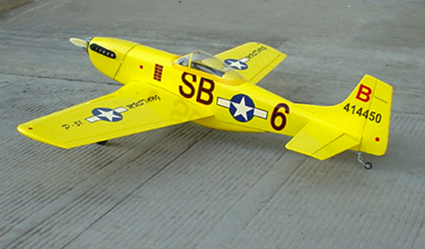 p51 mustang rc nitro airplane